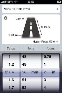 Simple DOF - Calcul de la profondeur de champs