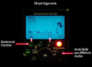 SB900 interface utilisateur ergonomique