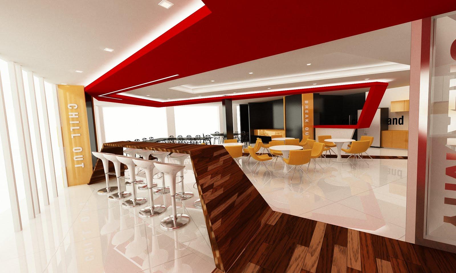 Freelance 3d Visualiser  Staff Lounge 01