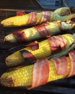 Cooking With Puteri: Turkey bacon wrapped corn