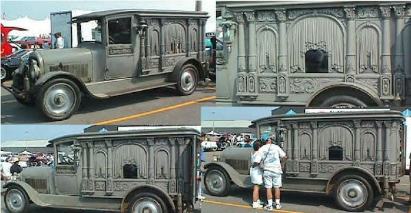 1921Sayers & Scovill Carved Panel Hearse ~
