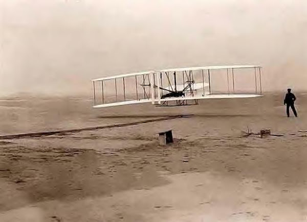 Wright Bros. 1st flight, Kitty Hawk, NC, 12-17-1903