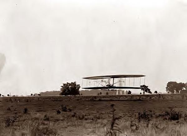 Wright Bros. flight #30. Huffman Prairie, Dayton, Ohio 1904