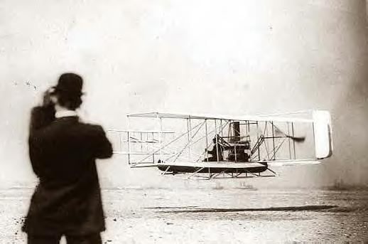 Orville Wright at flight start, 9-29-1909