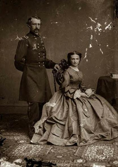 Custer and his wife, Libbie, 1860