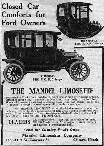 1915 Ford Mandel Limosette add ~