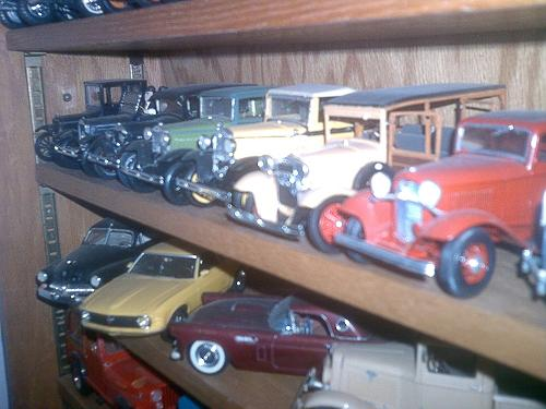 Line of Fords from the 1920s and '30s