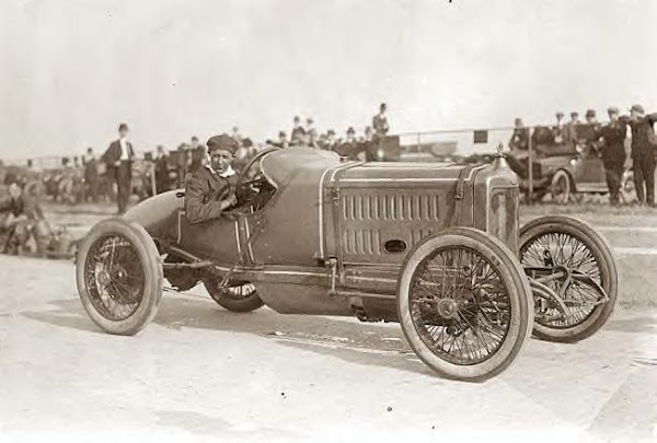 Jack McKay in Maxwell racing car