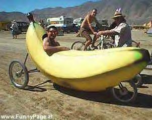 The banana! A car...A fruit! What?