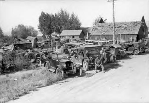 Earl Browning's Junkyard, Burns, OR. 1930s