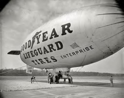 April 13, 1938. Washington, D.C. Goodyear blimp Enterprise