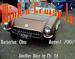 Click this picture for the Wink's Cruise-in blog for August, 2002
