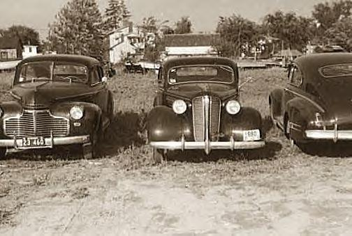 Cars parked in E. Hartford, Conn, May, 1941