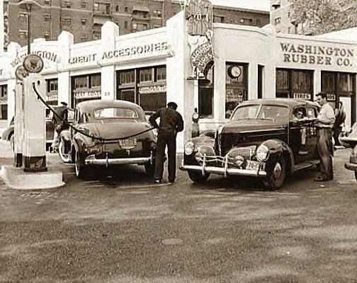 Gas Station, Washington, DC, 5-14-1942