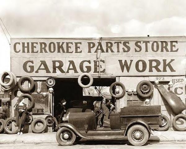 Auto Parts Shop, Atlanta, Ga., 1936