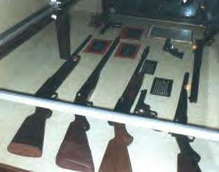 Barrow-Parker gang guns in the museum