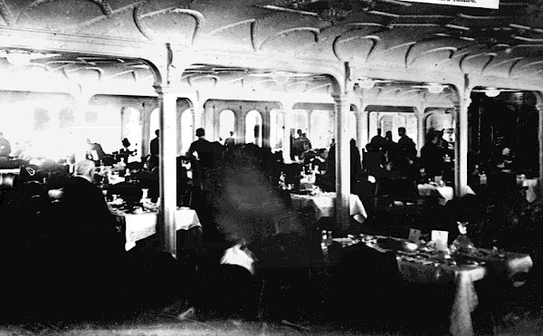 1st Class Dinning Room in Use