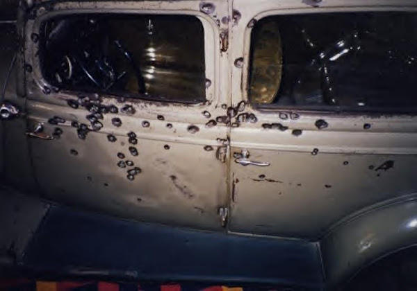 Bonnie & Clyde's death car today