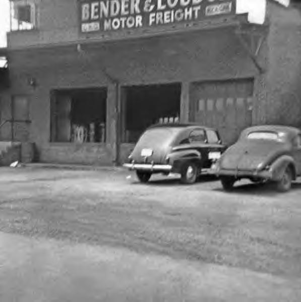 Bender & Loudon Motor Freight Dock with cars 1940s