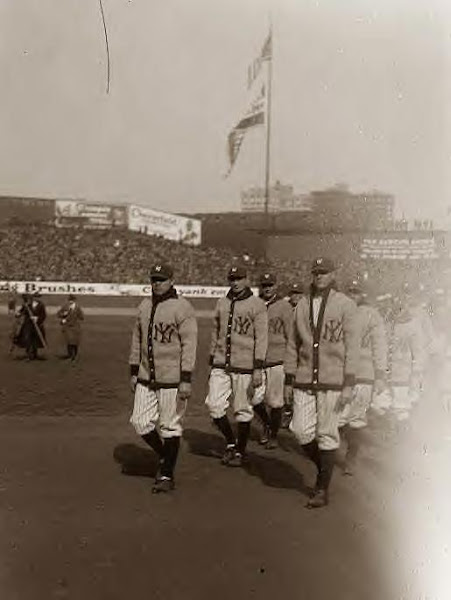 Ruth, Babe leading Yankees at opening game 1923