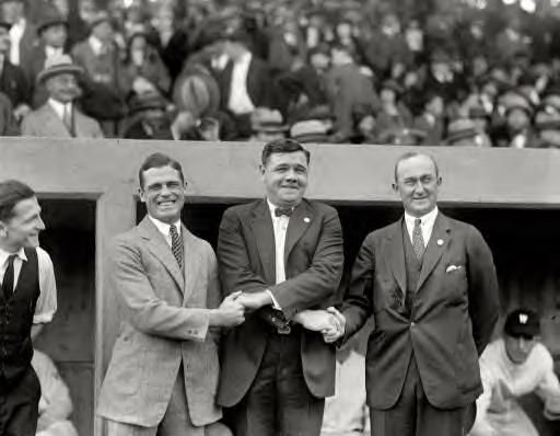 October 4, 1924. George Sisler, Babe Ruth and Ty Cobb
