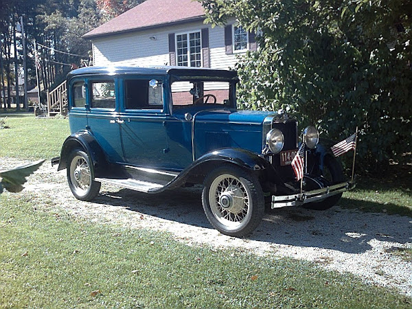 My 1930 Chevy at home