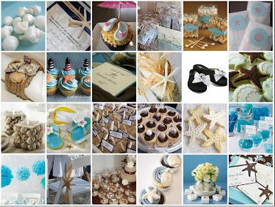 Party Frosting Beach Wedding Shower Ideas