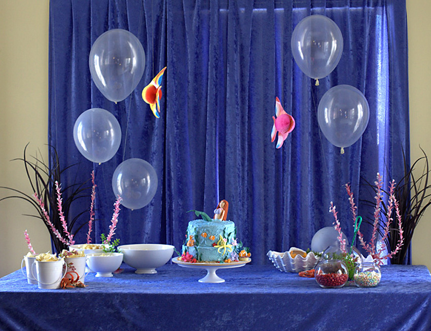 Finding nemo underwater under the sea or shark themed party