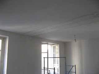 Appartement asni res suivi des travaux toile de verre for Poser toile de verre plafond