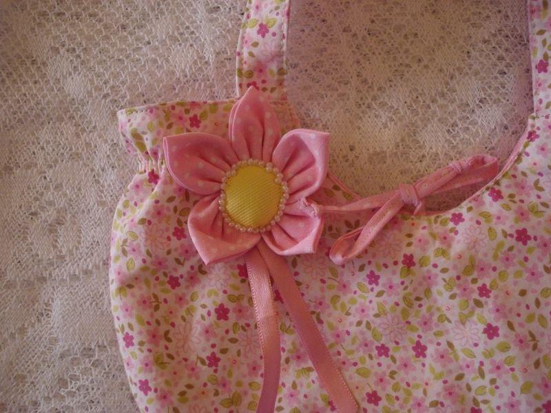 Bolsa Rosa com Rosas - Detalhe