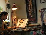 En mi estudio/ Flores in his workshop
