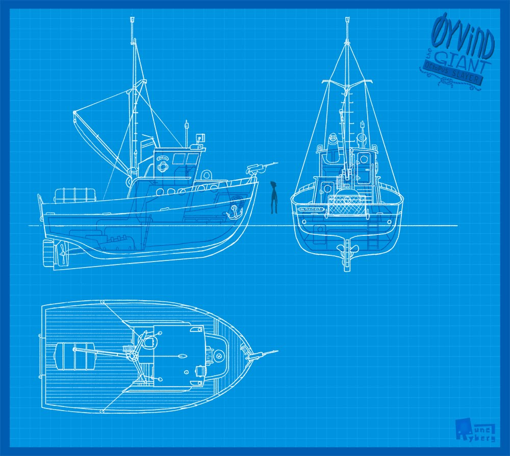 Rune ryberg oyvind boat blueprint to get a good overview i drew this fancy blueprint of the main characters fishing boat malvernweather Choice Image