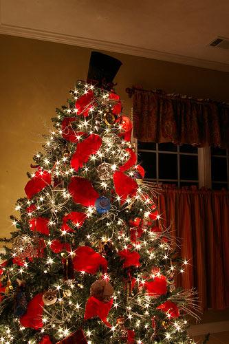 Las fiestas llegaron ya decora tu arbol de navidad con lazos - Lazos para arbol de navidad ...