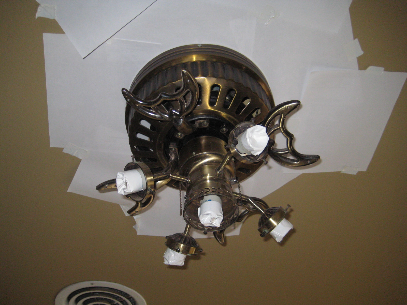 Paint Ceiling Fan : Adventures in creating ceiling fan update