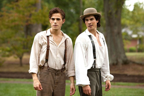 vampire diaries damon and stefan. This is Stefan and Damon in