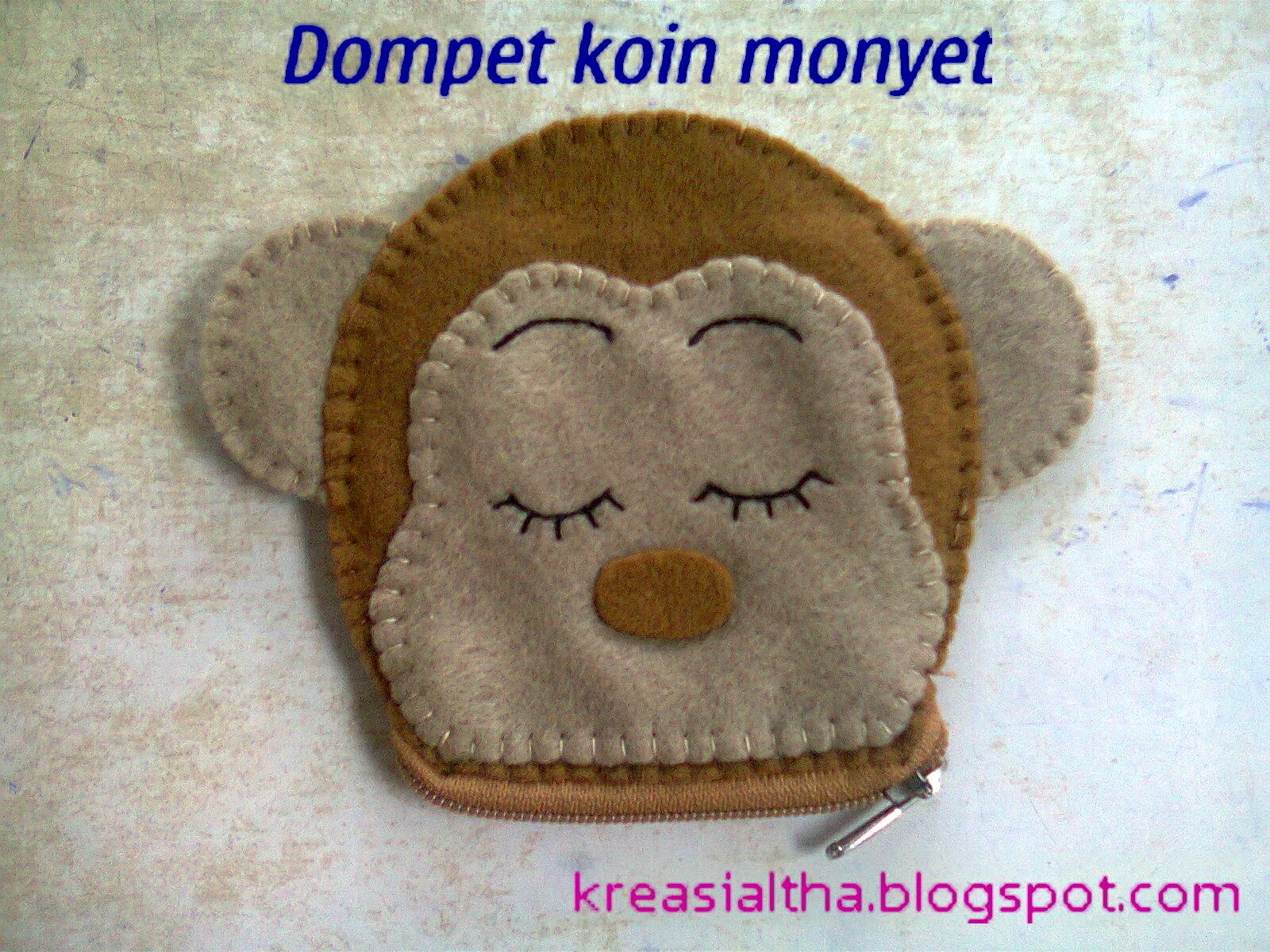 dompet koin kepala monyet