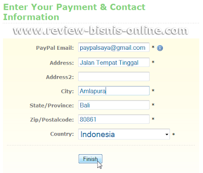 Informasi pembayaran