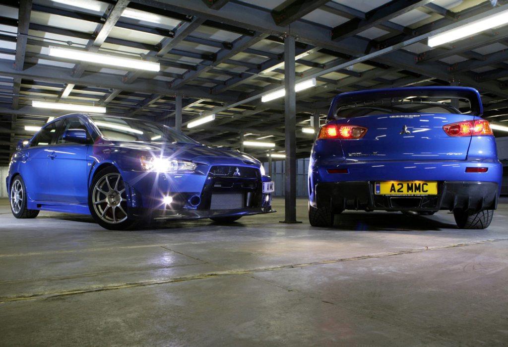 Mitsubishi Evolution X Blue. Mitsubishi EVO 10.