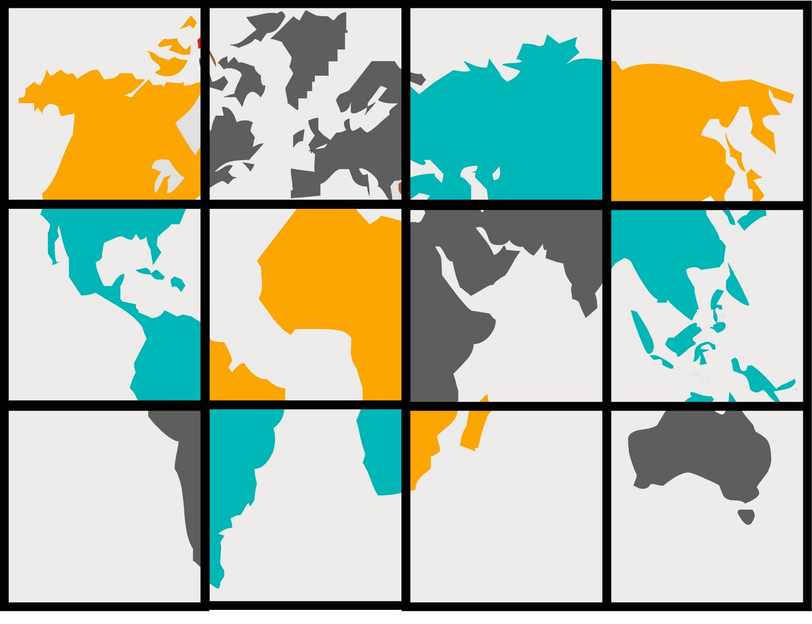 Interactive world map tutorial so you think youre crafty now that you have an idea of what each square canvas of your map will look like print out your map buy your colors and get to work sciox Gallery