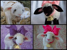 Darling little lambs...handmade!