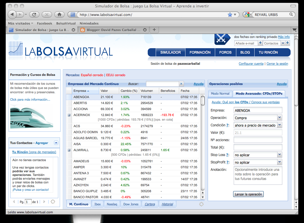 La bolsa virtual forex