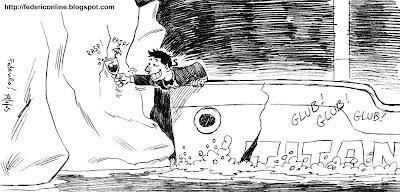 ubriaco e iceberg titanic
