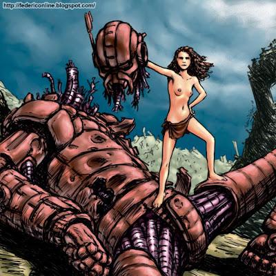 robot e ragazza