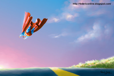 superman tramonto
