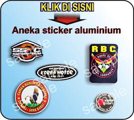 sticker aluminium
