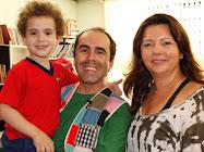 Eu, meu filho João e Telma Guimarães em deliciosa contação de Histórias!