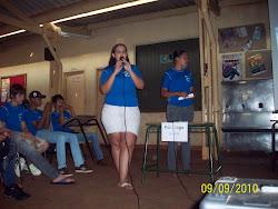 Maria Luisa apresentando sobre o Aborto