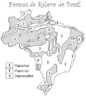 blog geocriativo o relevo brasileiro