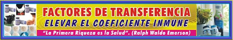 FACTORES DE TRANSFERENCIA