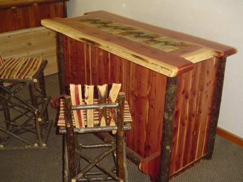 Log Furniture Barnwood Furniture Rustic Furniture Red